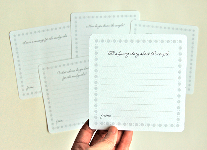Each card has a prompt, place to write a story, and an attribution line.