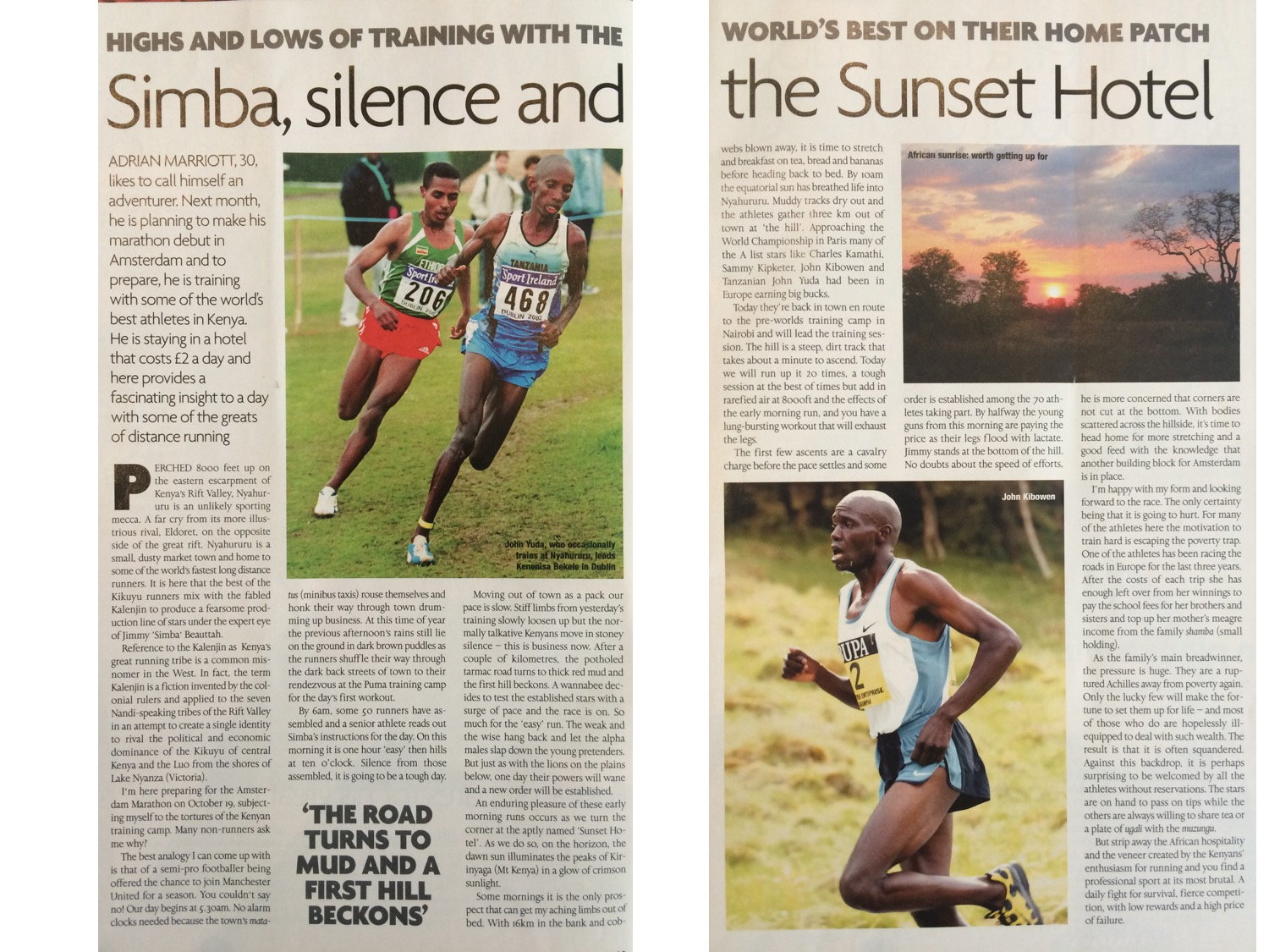 This is the article from the British Runner magazine mentioned above.