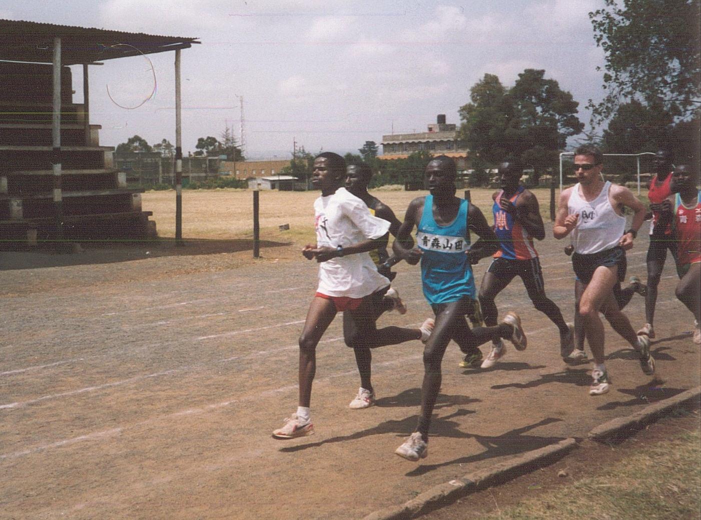 Training with the Kenyans in Nyahururu
