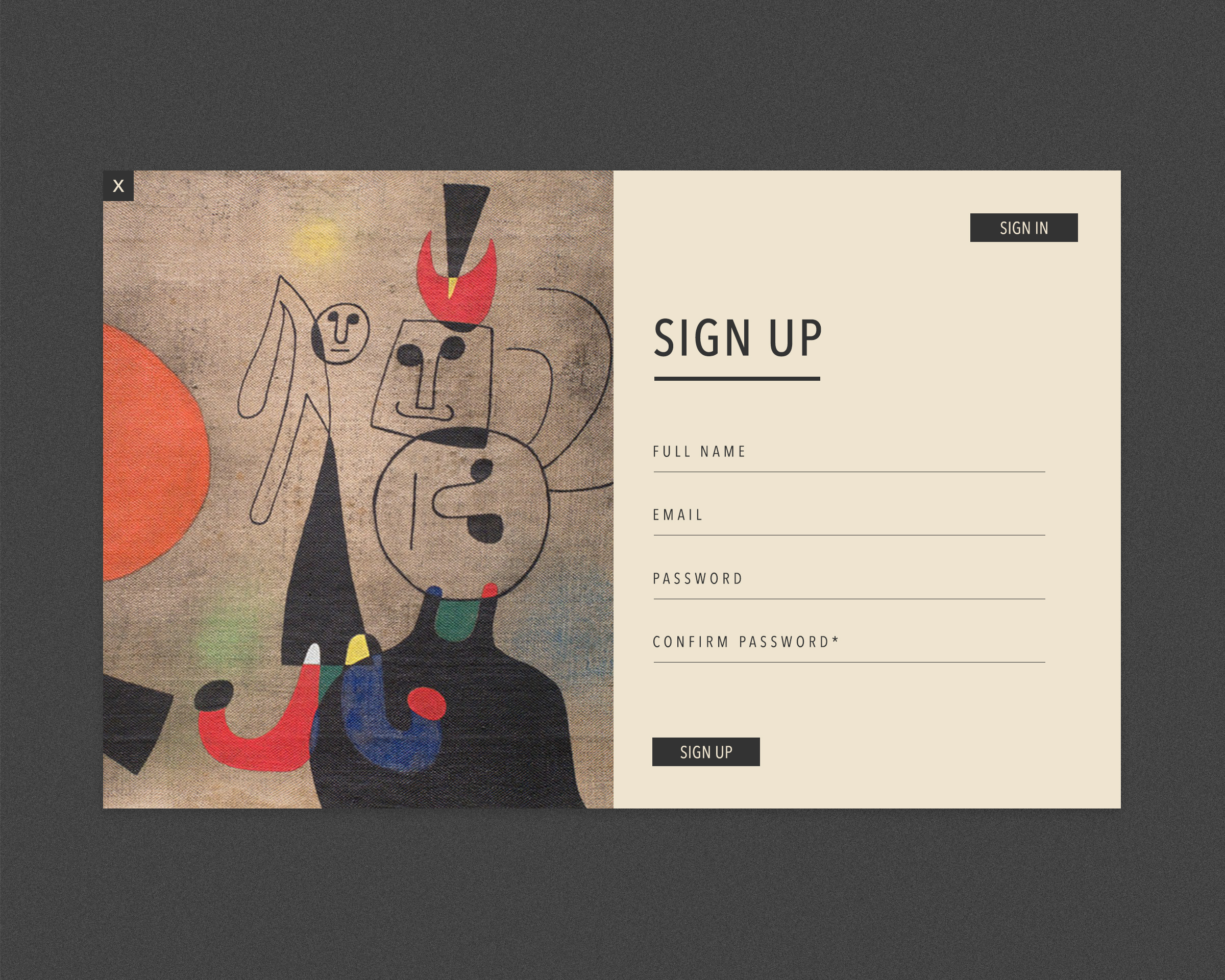 001 / sign up