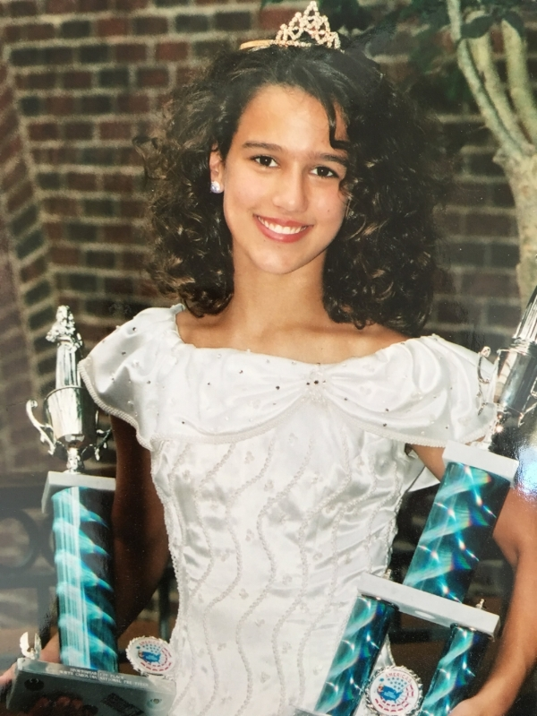 Kat with her trophies from the Miss National Pre-Teen of North Carolina Pageant. Lol.
