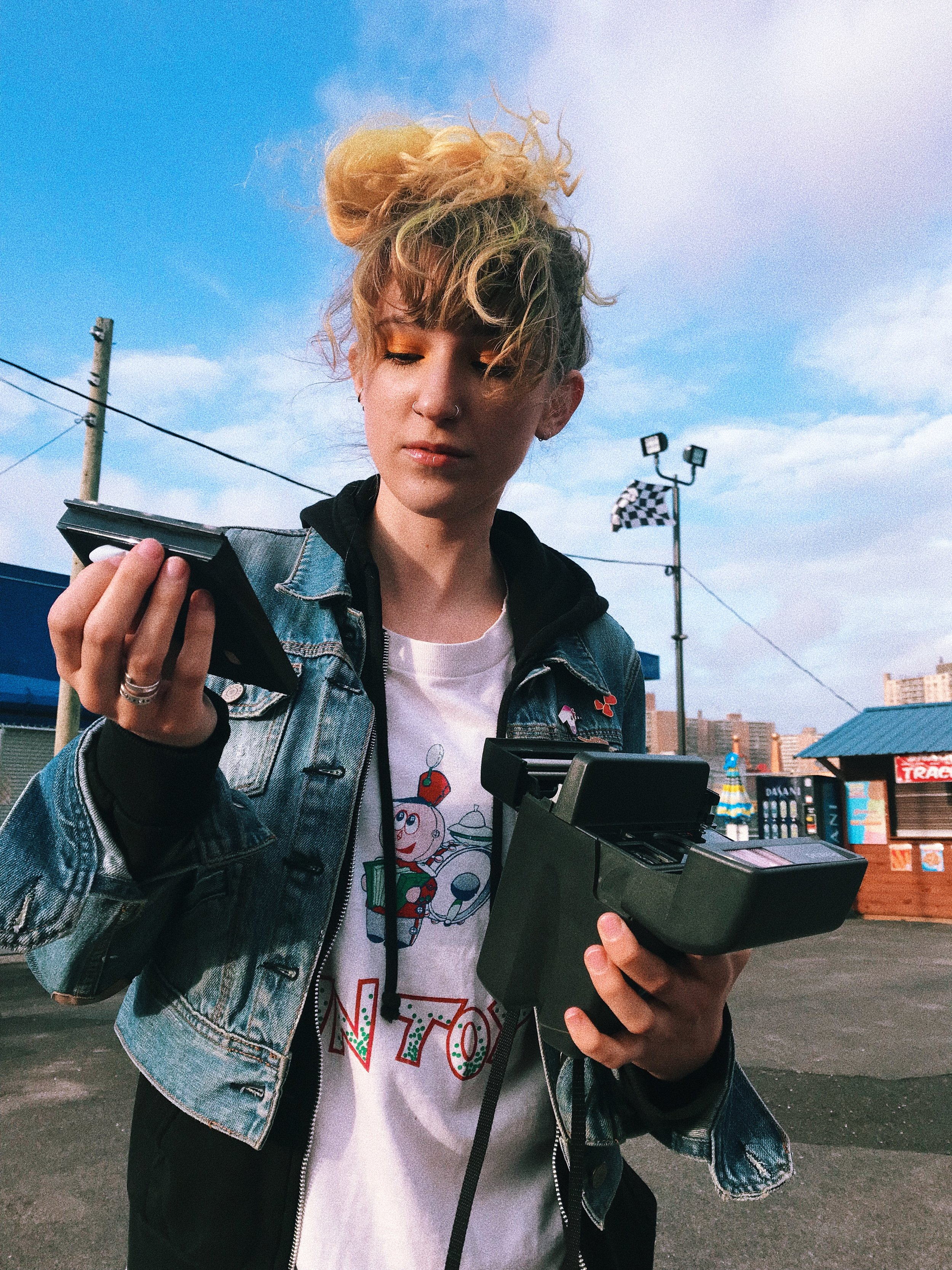 Hannah Coney Island Polaroid