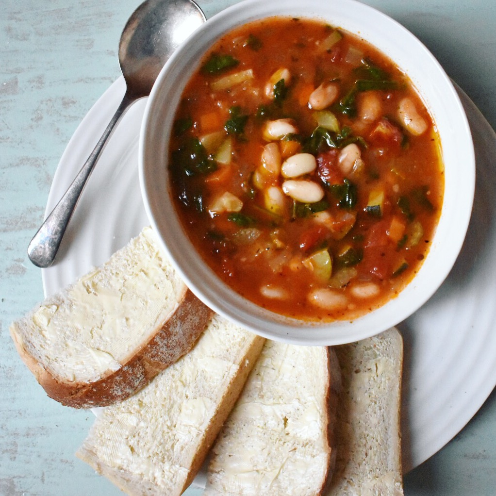 Soul-warming vegan Tuscan bean soup