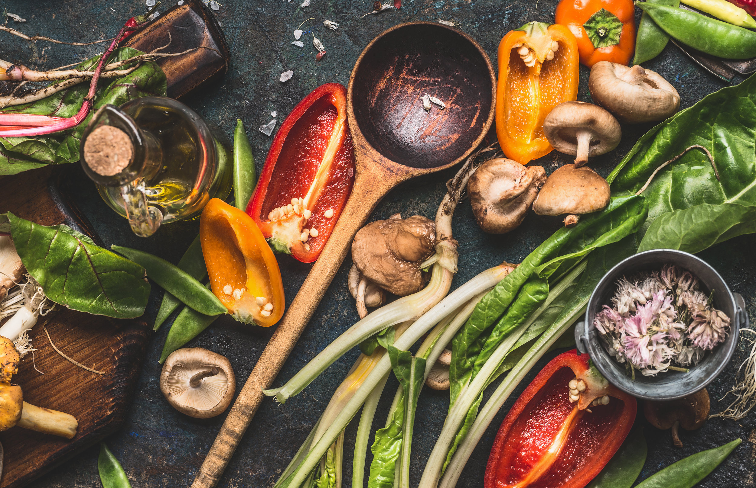 Vegan lifestyle - be environmentally friendly and save money by reducing kitchen waste