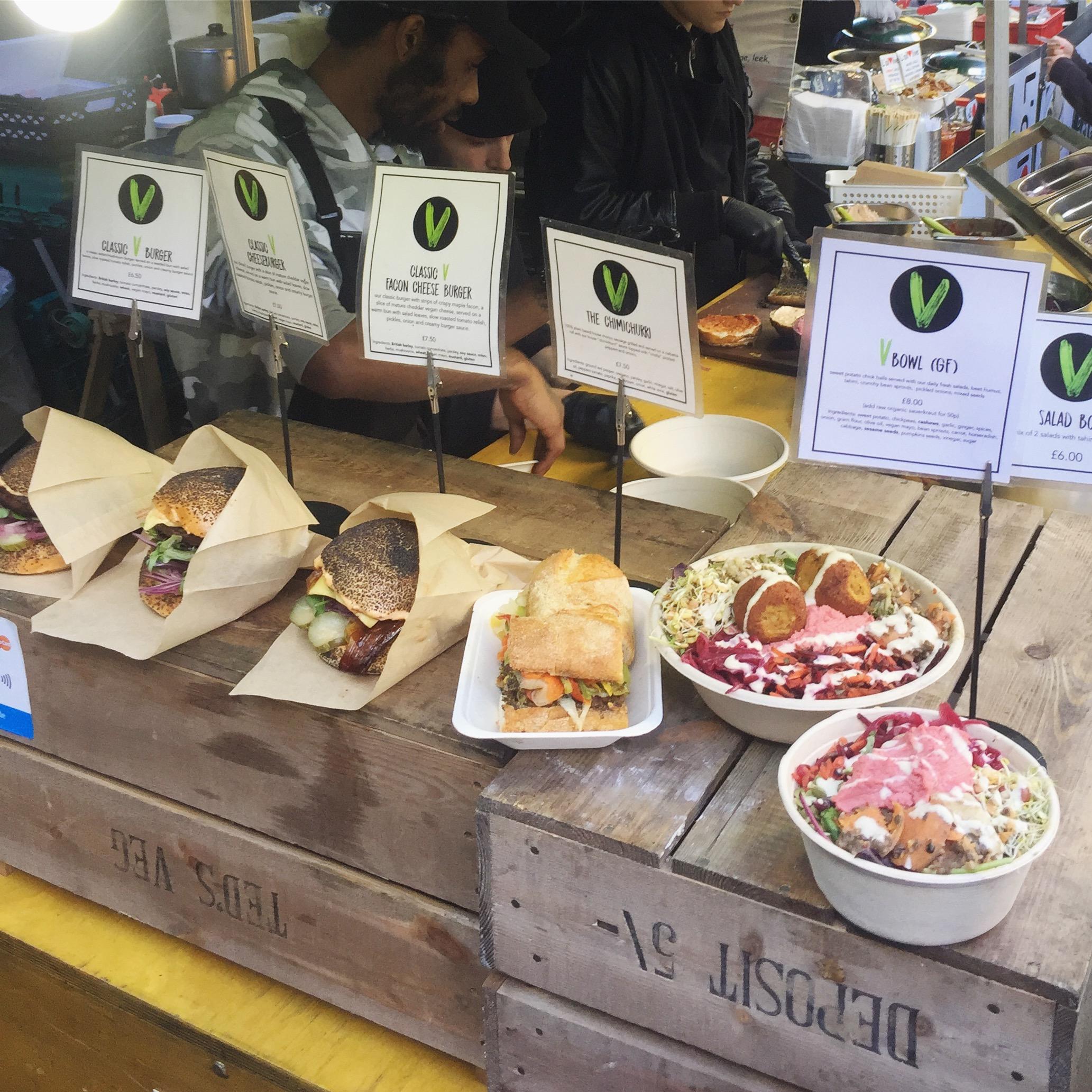 Vegan street food -burgers and hotdogs
