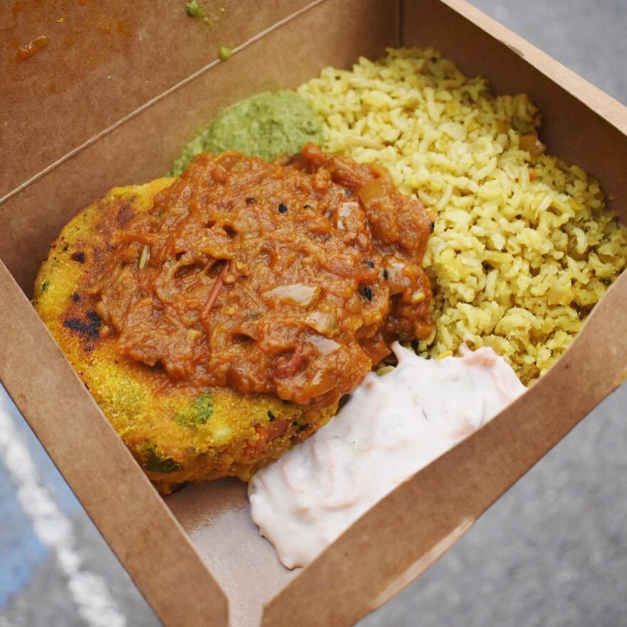 Kally Cooks vegan Indian Street Food