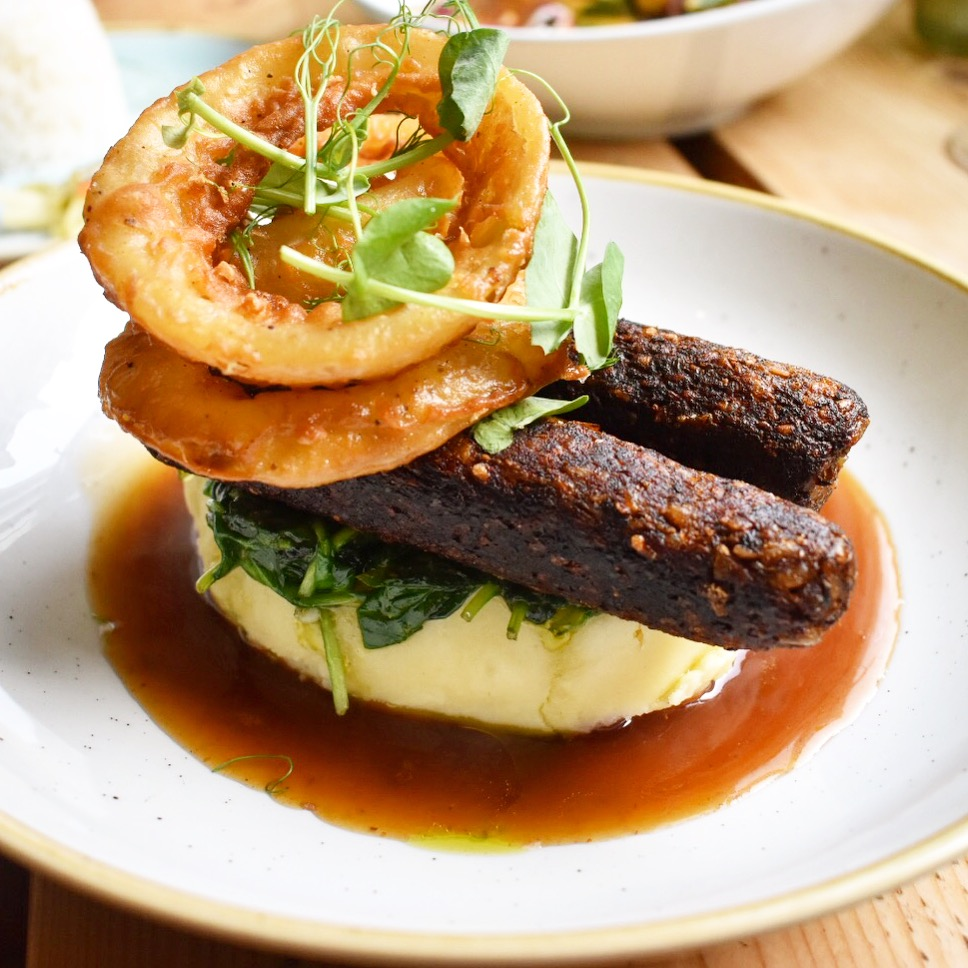 Green Rocket Cafe Bath - vegan and vegetarian restaurants bangers and mash