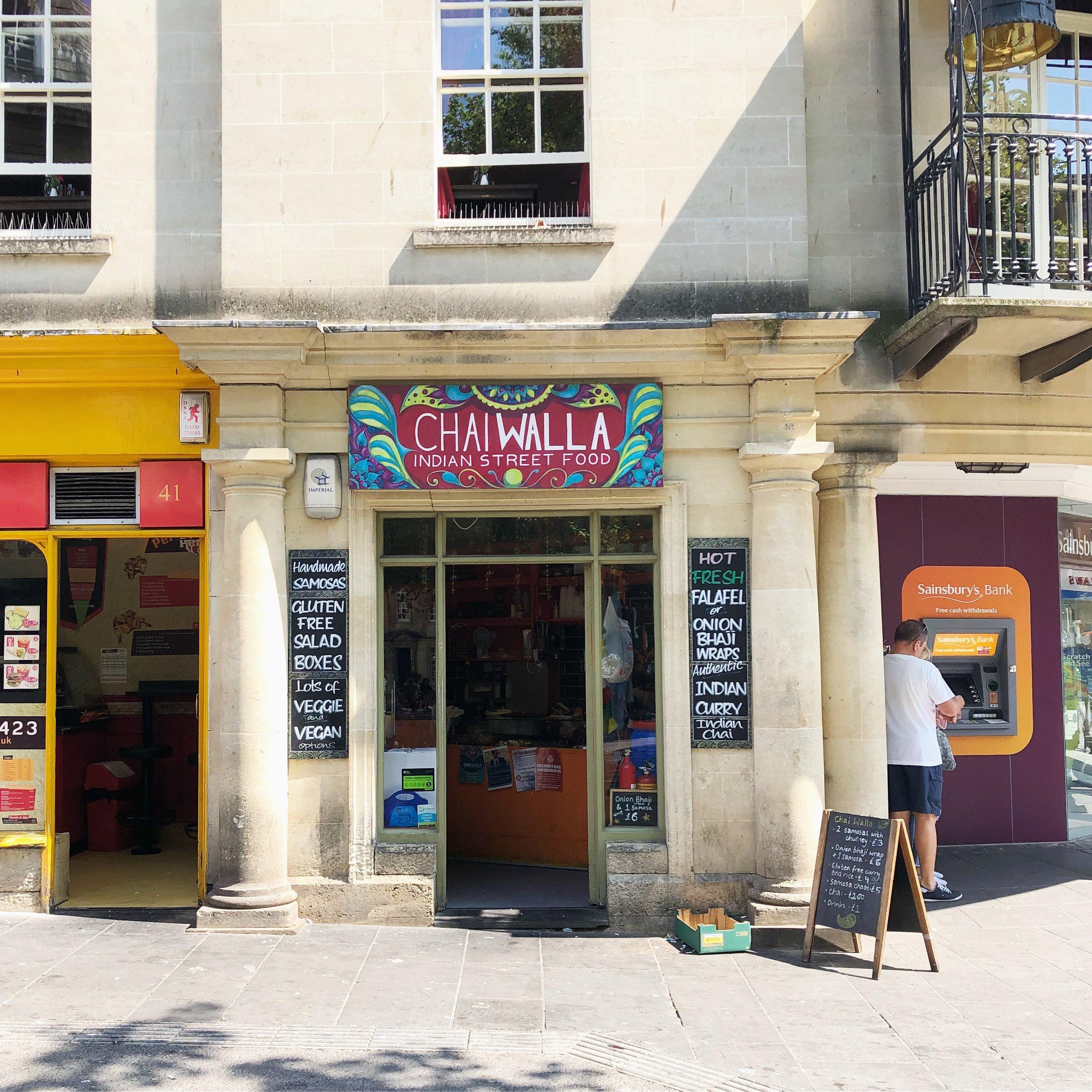 Indian vegan street food Bath UK vegetarian chaiwalla chai walla