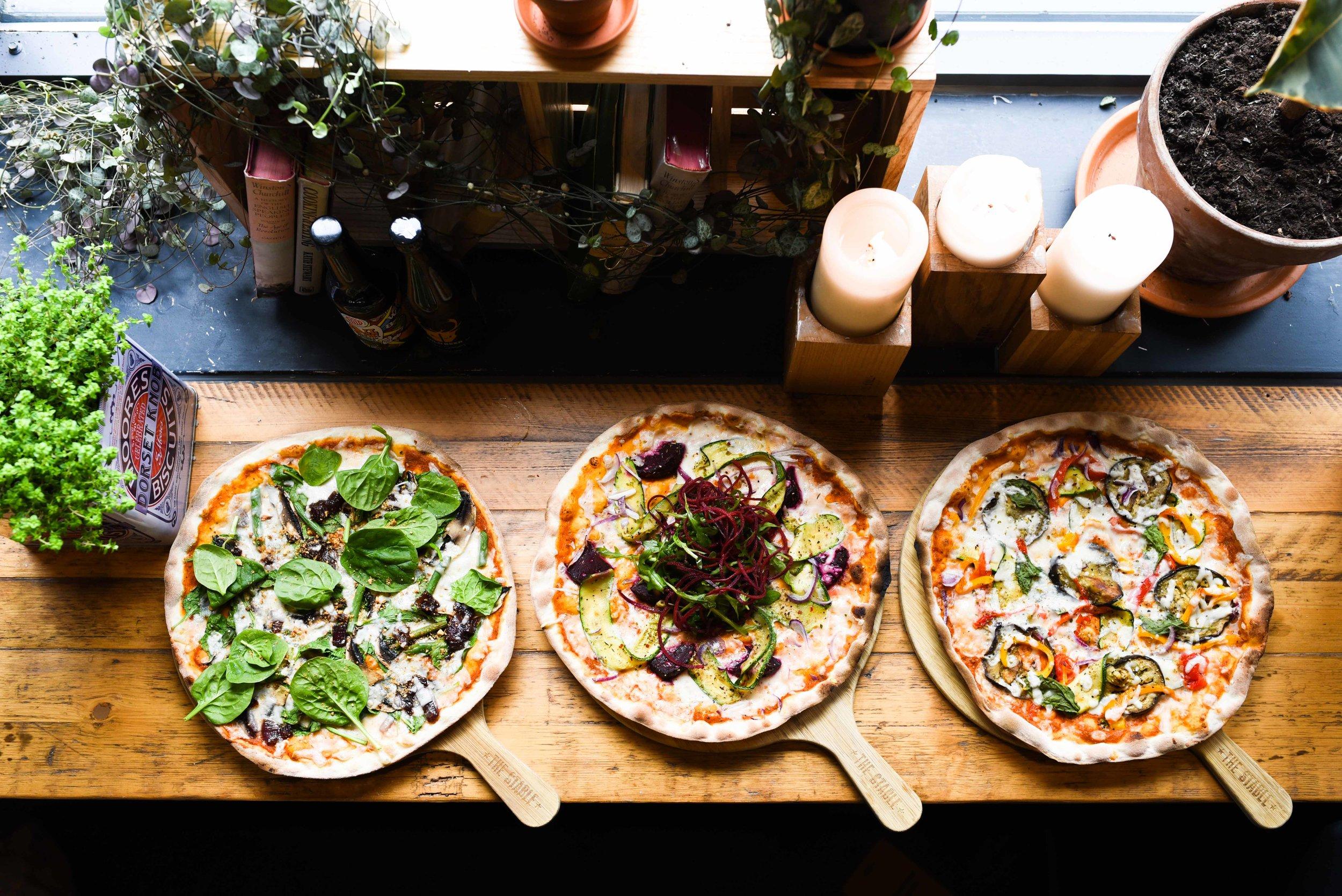 The Stable Bath vegetarian vegan food pizza restaurants