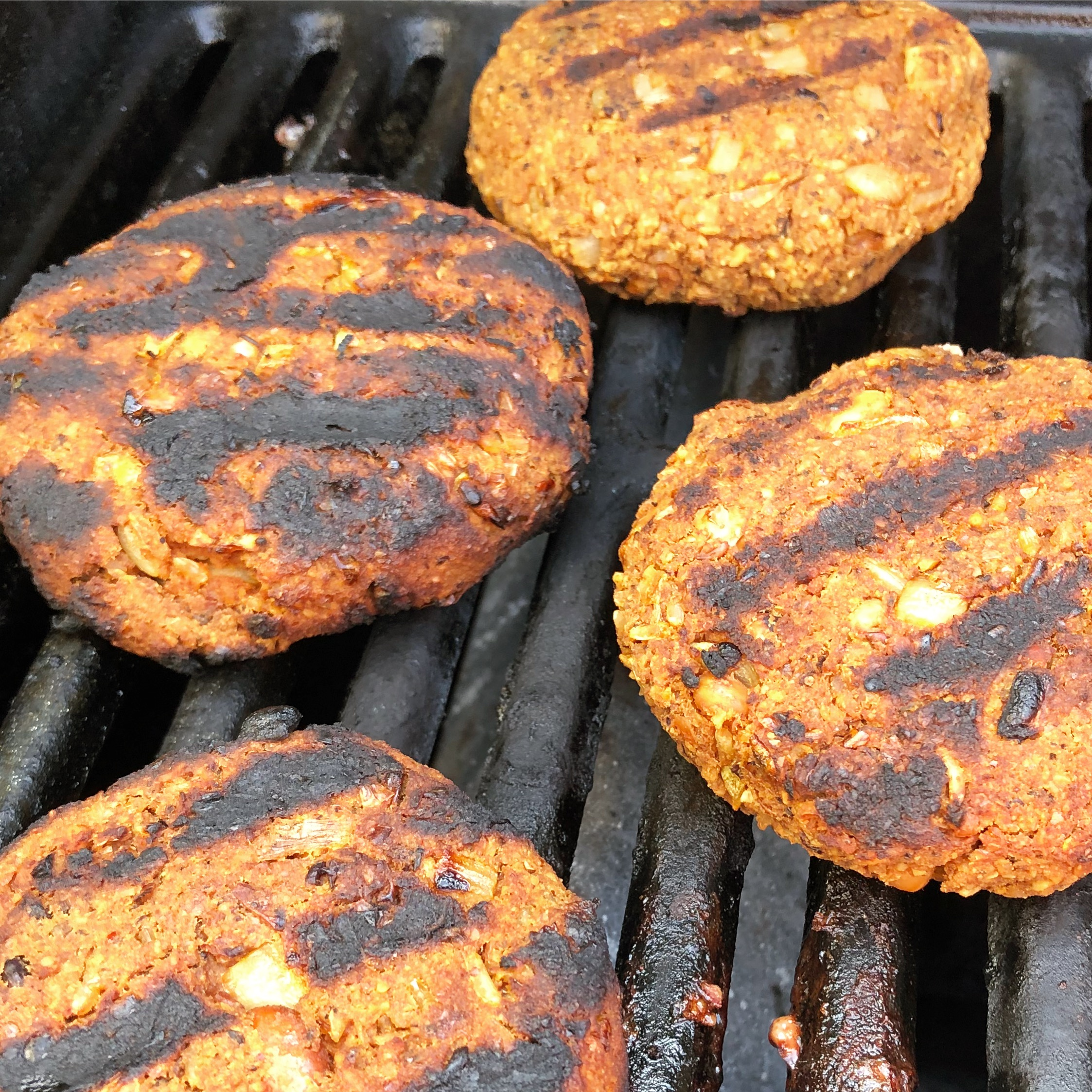 This vegan burger recipe really is grillable - they hold their shape perfectly and don't stick to the BBQ!