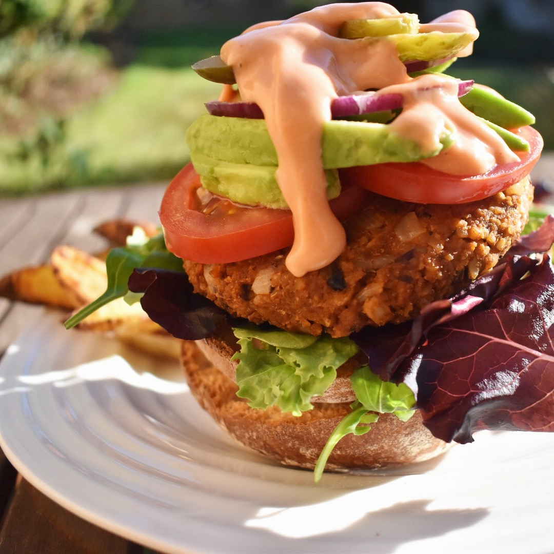 vegan bbq veggie burger recipe grillable healthy plant based barbecue easy