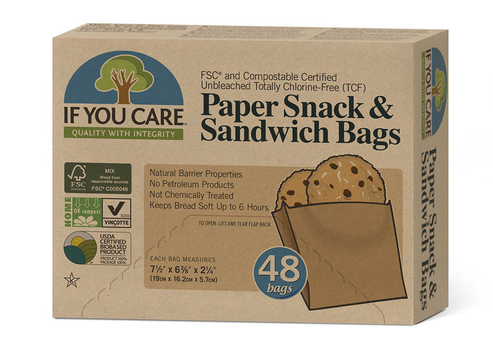 If You Care paper sandwich bags plastic-free sustainable environmentally friendly
