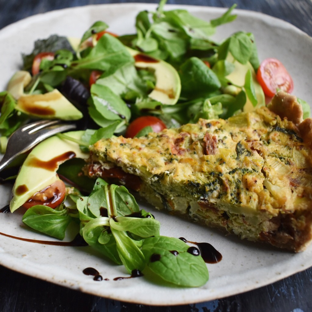 easy and healthy vegan tofu quiche recipe