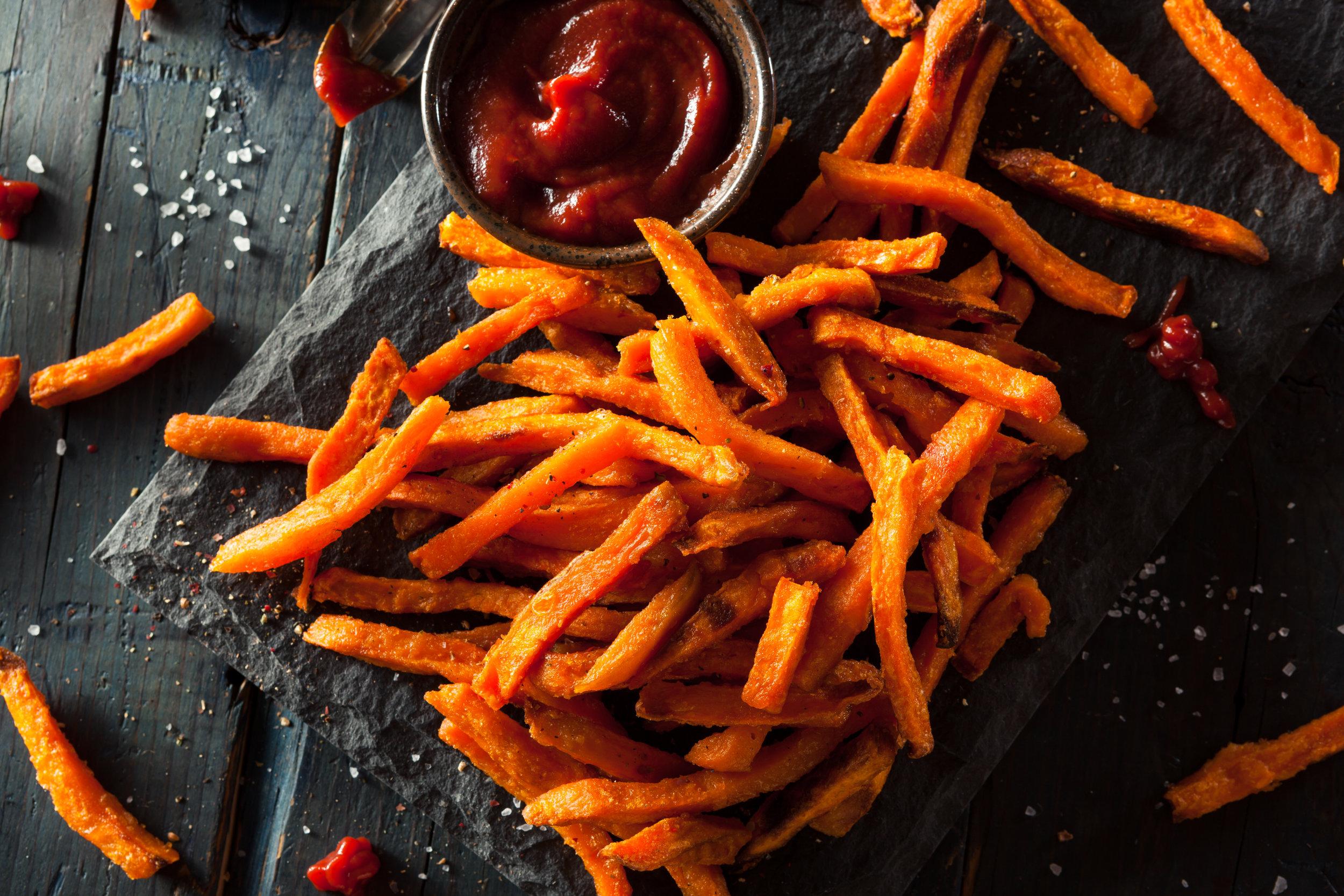 sweet potato fries vs regular potato fries which are healthier vegan nutrition nutritionist
