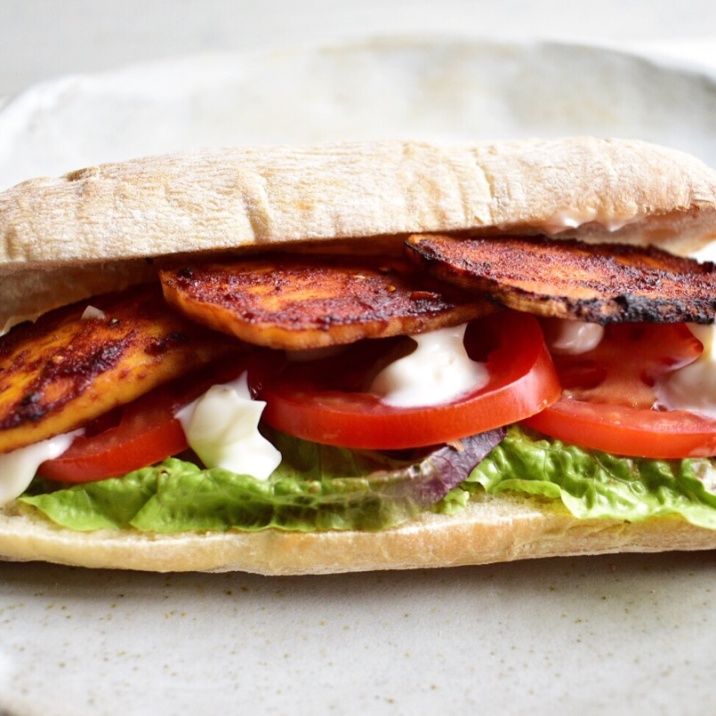 Vegan tofu bacon BLT recipe