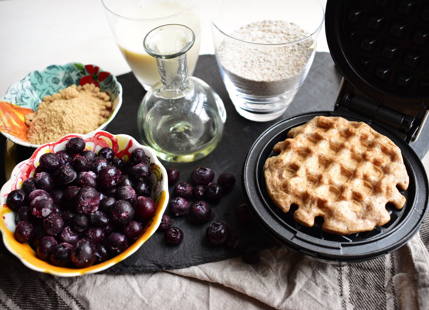 vegan waffles vegan waffle recipe with quick homemade blueberry sauce healthy quick easy