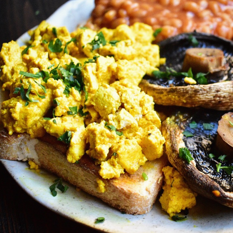vegan scrambled tofu recipe very easy healthy