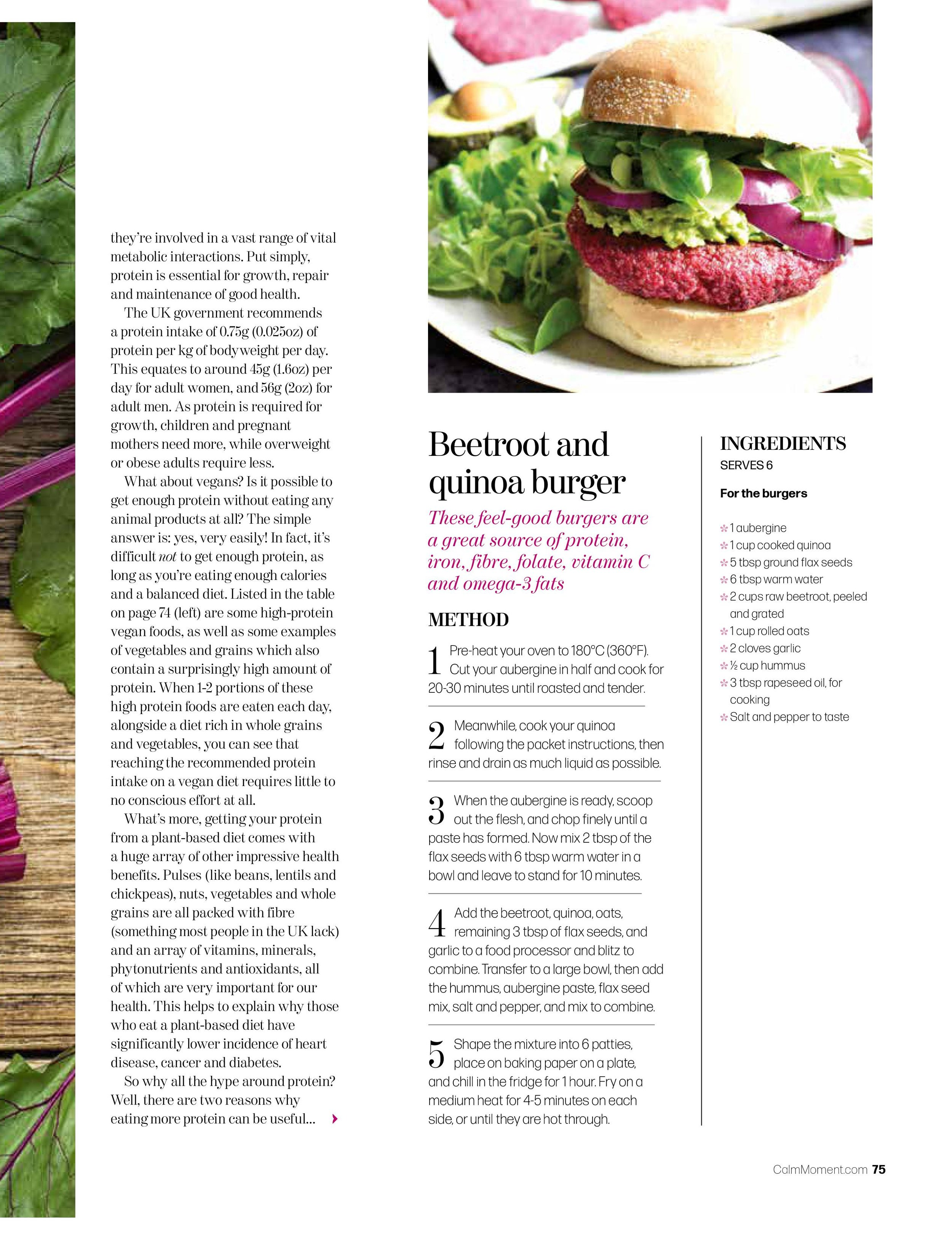 vegan nutrition vegan nutritionist in the moment magazine article feature protein