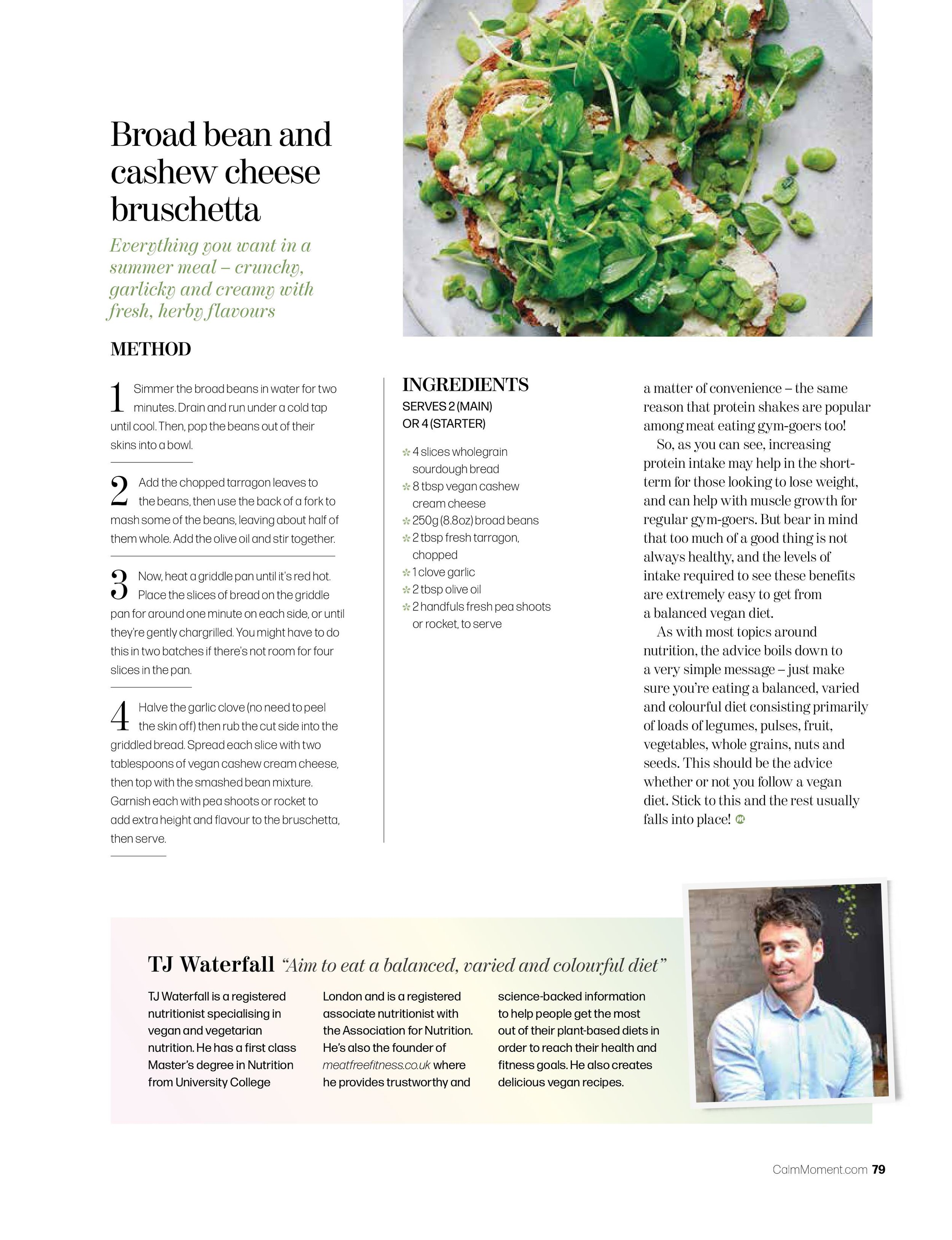 vegan nutrition article feature magazine vegan nutritionist health fitness