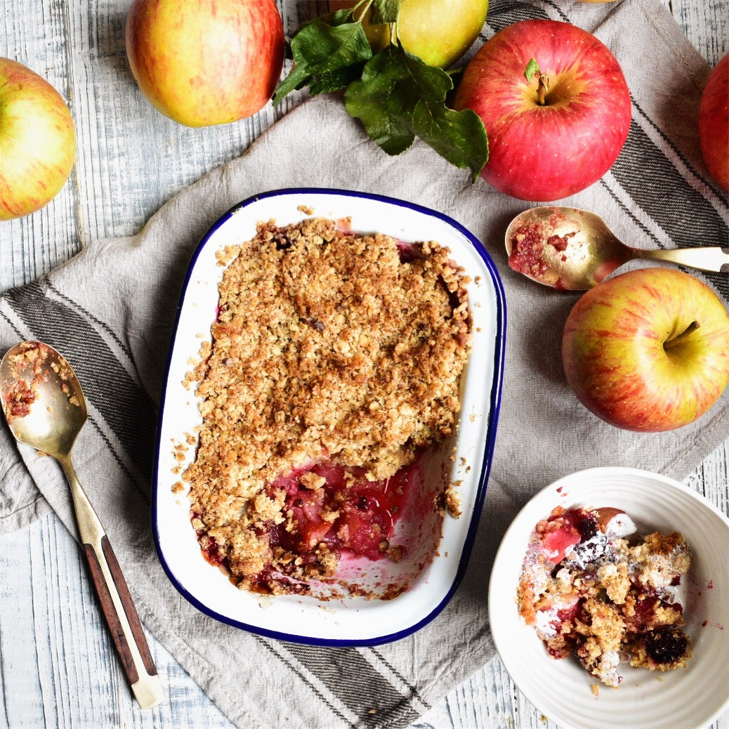 simple vegan apple crumble recipe healthy quick easy