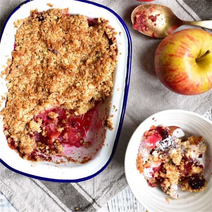simple vegan apple crumble recipe vegan