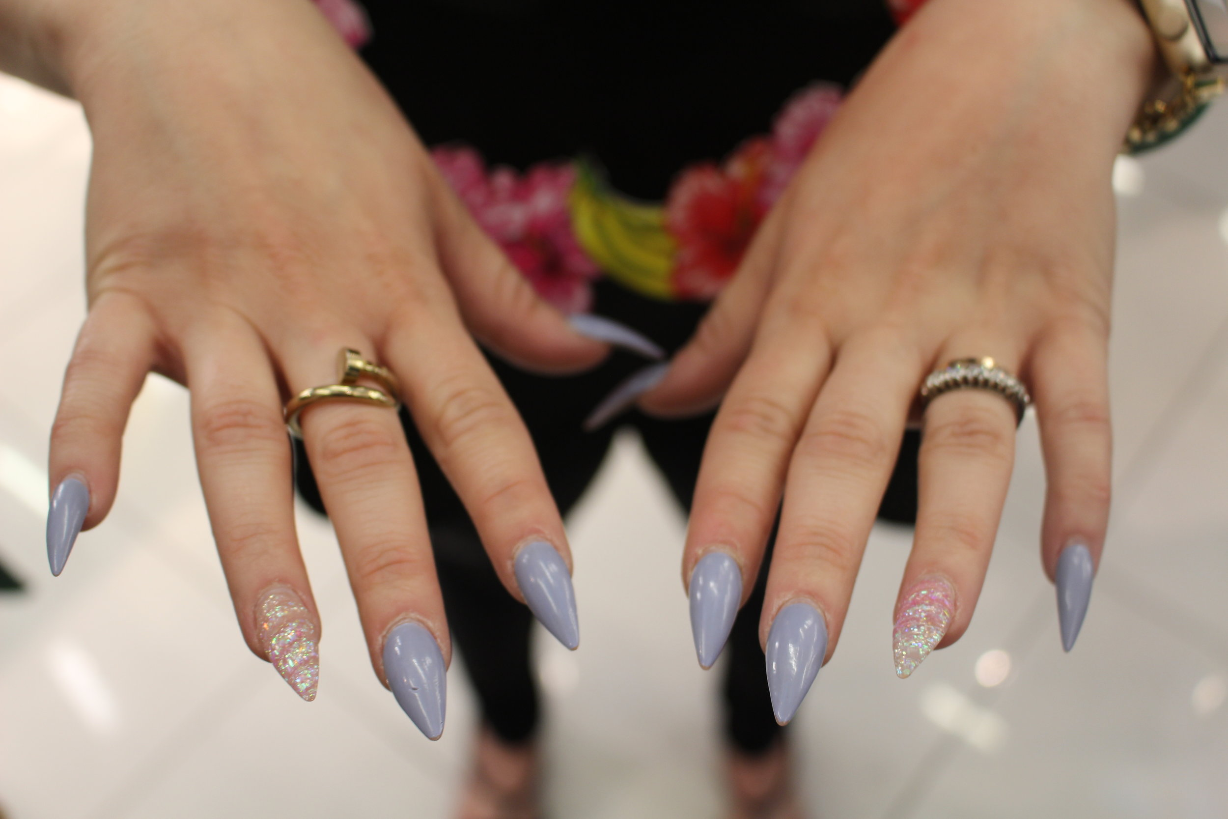 Unicorn nails on Marietta Castro were literally on point!