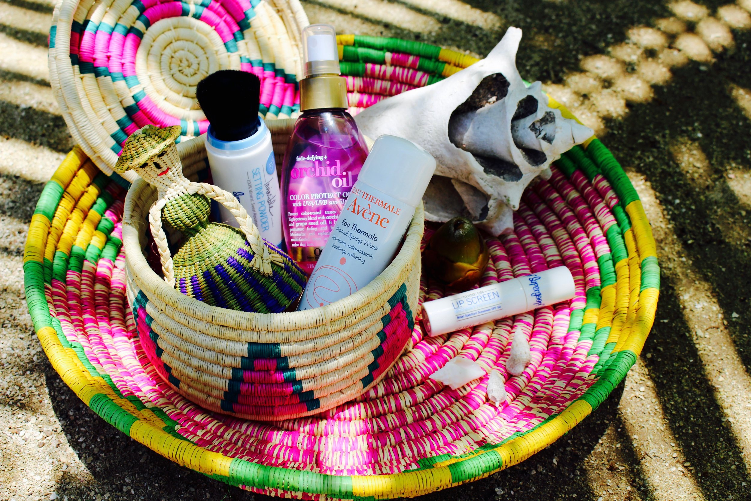A couple of my favorite products I staged with my new souvenirs from the Maya Key gift shop