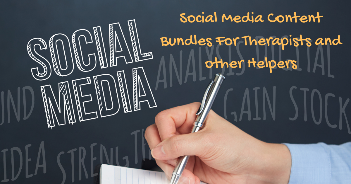 Social Media Packages for Therapists and Other Helping Professionals -