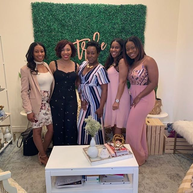 "Our Mothers Day Brunch this weekend was impactful, inspiring, and uplifting to say the least!! Ladies, the time we spent with one another can be summed up in words. We allowed our imperfections in motherhood to bring us together and allow ourselves grace!. : It was a pleasure to honor @sherellehogan as the ""Community Mom Award!"" Your testimony touched so many. Sharing your why allowed us to connect with ourselves in a spiritual and intuitive way! You're amazing. : As we journey through life together, it's a blessing to have #CHICmoms right by your side 🎀"