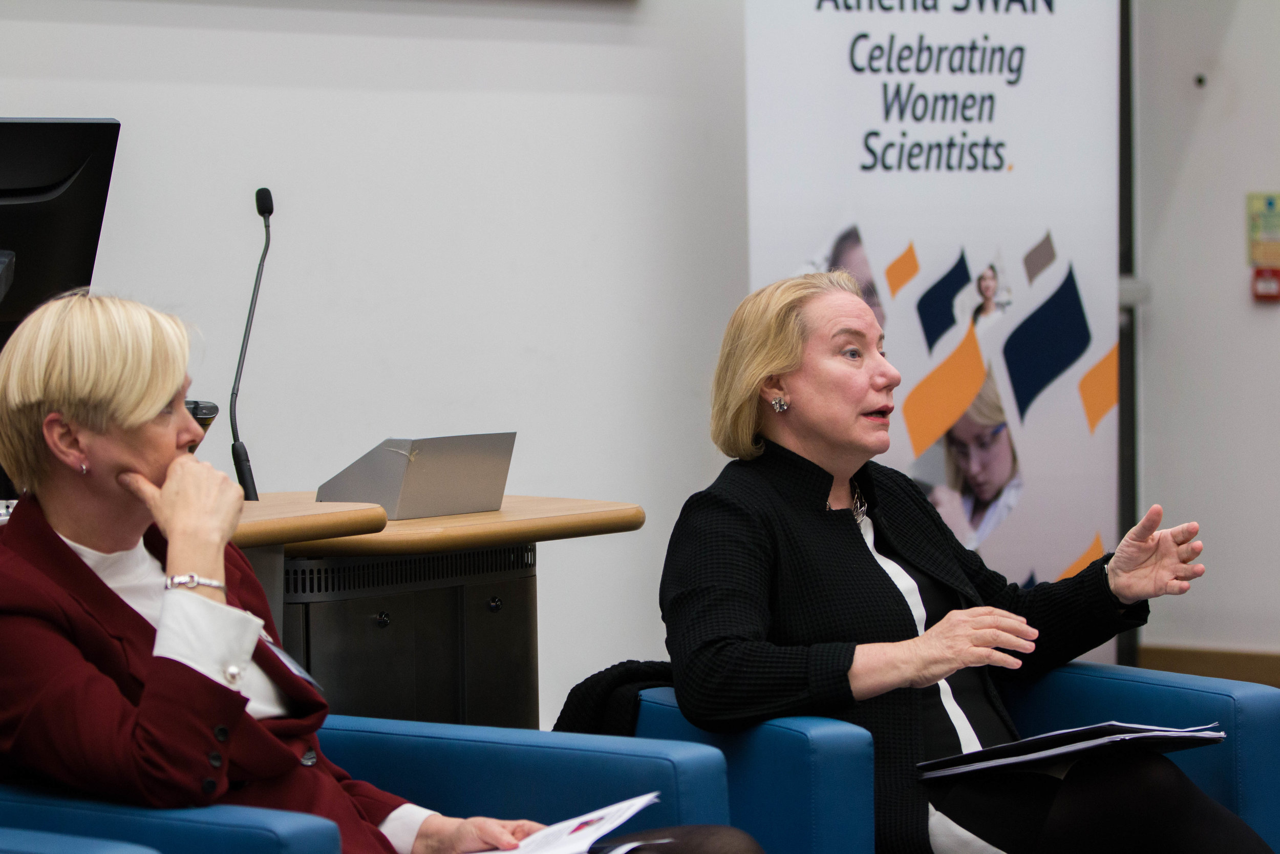 Dr Olivarius speaks at a panel at University of East London
