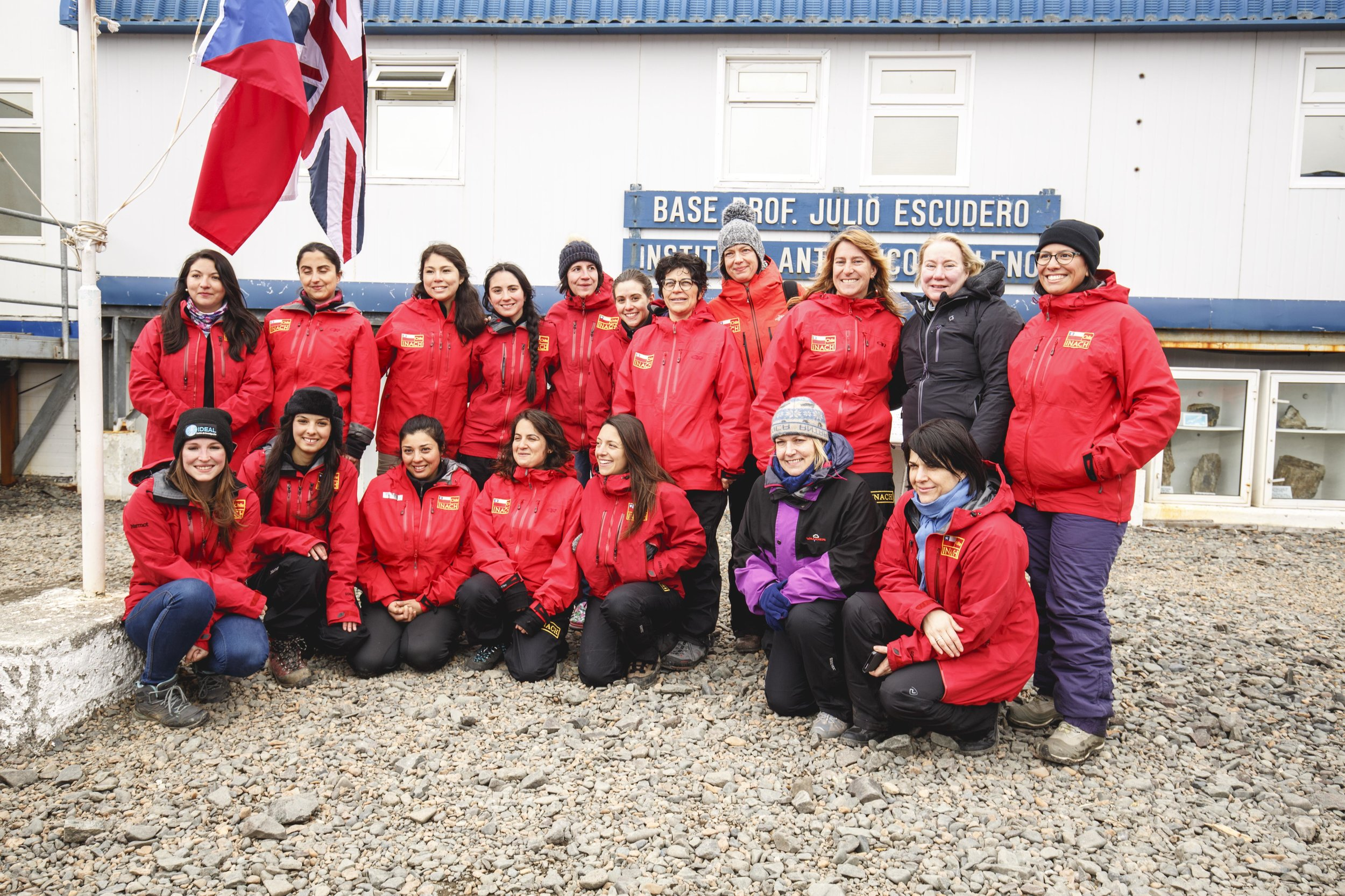 Dr Olivarius at the Futures Congress excursion to Antarctica (photo credit Álvaro Soto Valle)