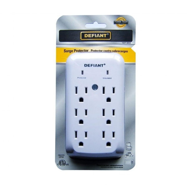 The best kind of surge protection often involves 'layers' of protection, from a power strip like this one to a whole house surge protector.