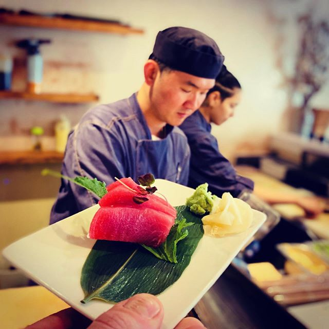 Fresh sashimi and sushi made by our talented chefs right in front of you. Perfect for this warm summer weather. . . . #shoreditch #eastlondonfood #healthyfood #sushi #sushitime🍣 #summerfood #summerfoods