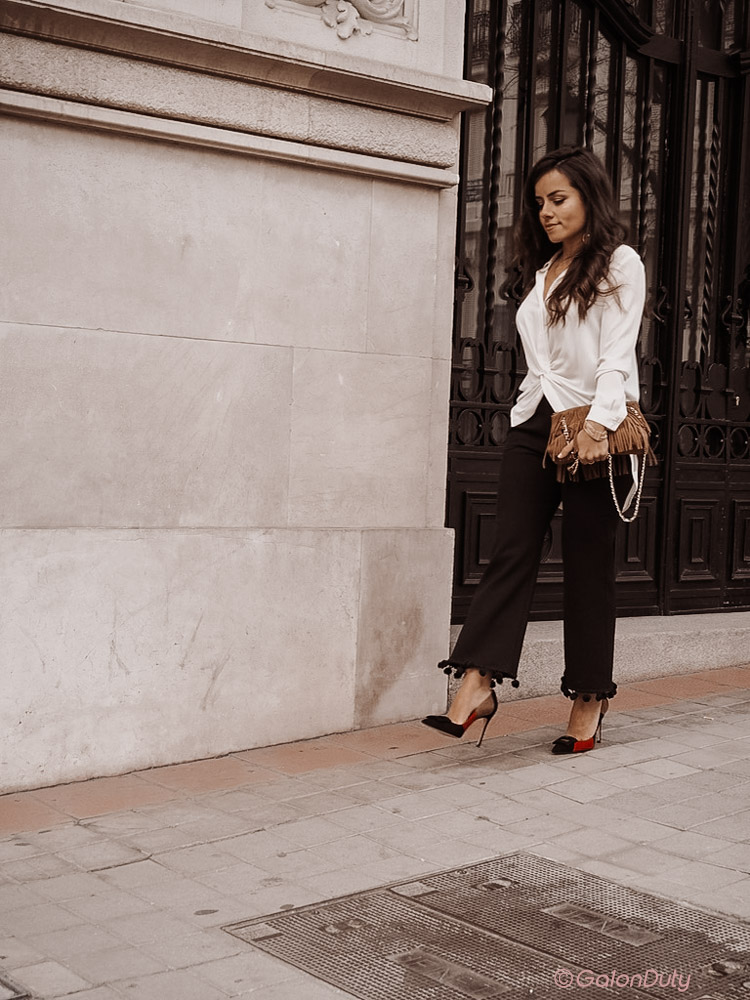 Day to night outfit with statement shoes
