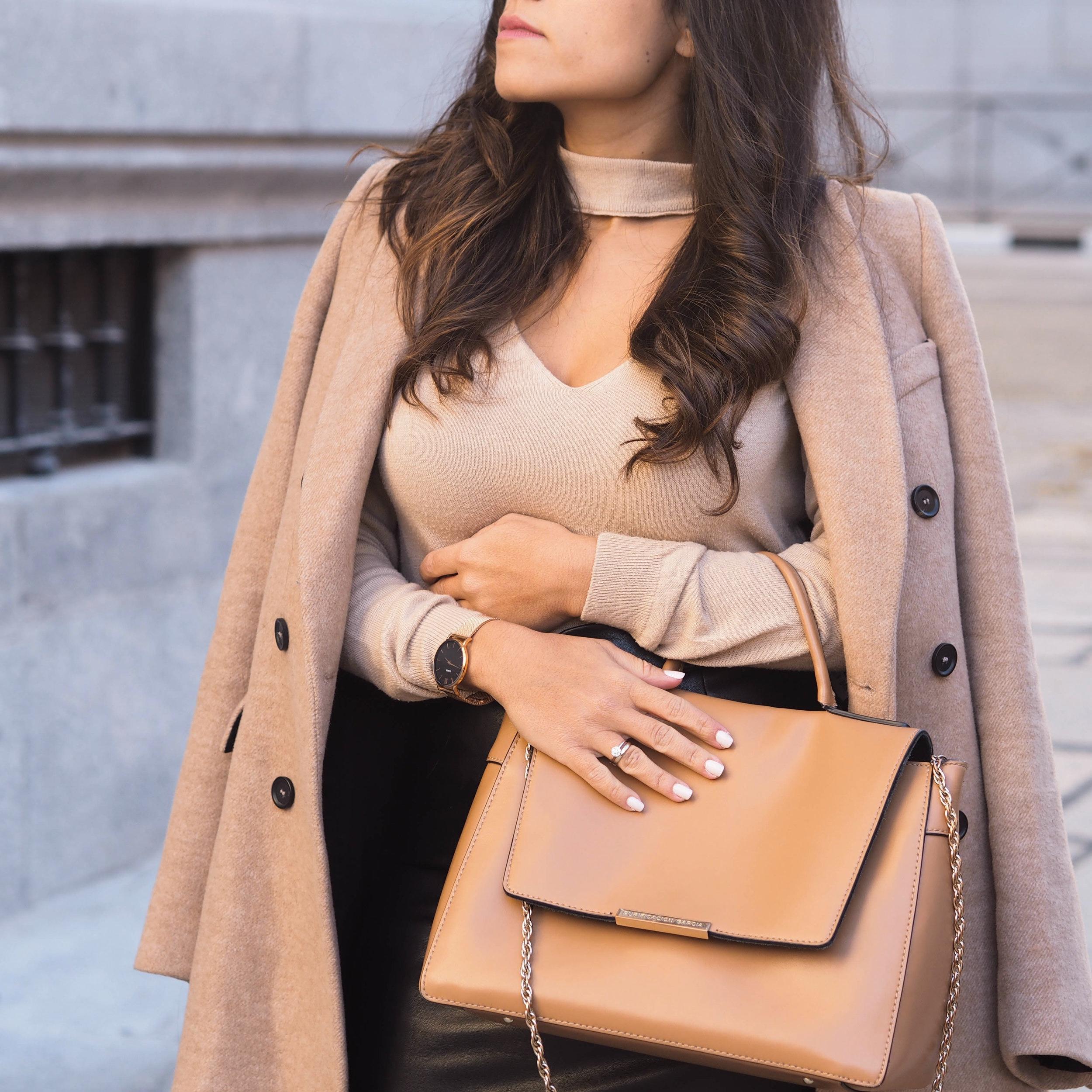 Beige+Structure+Handbag