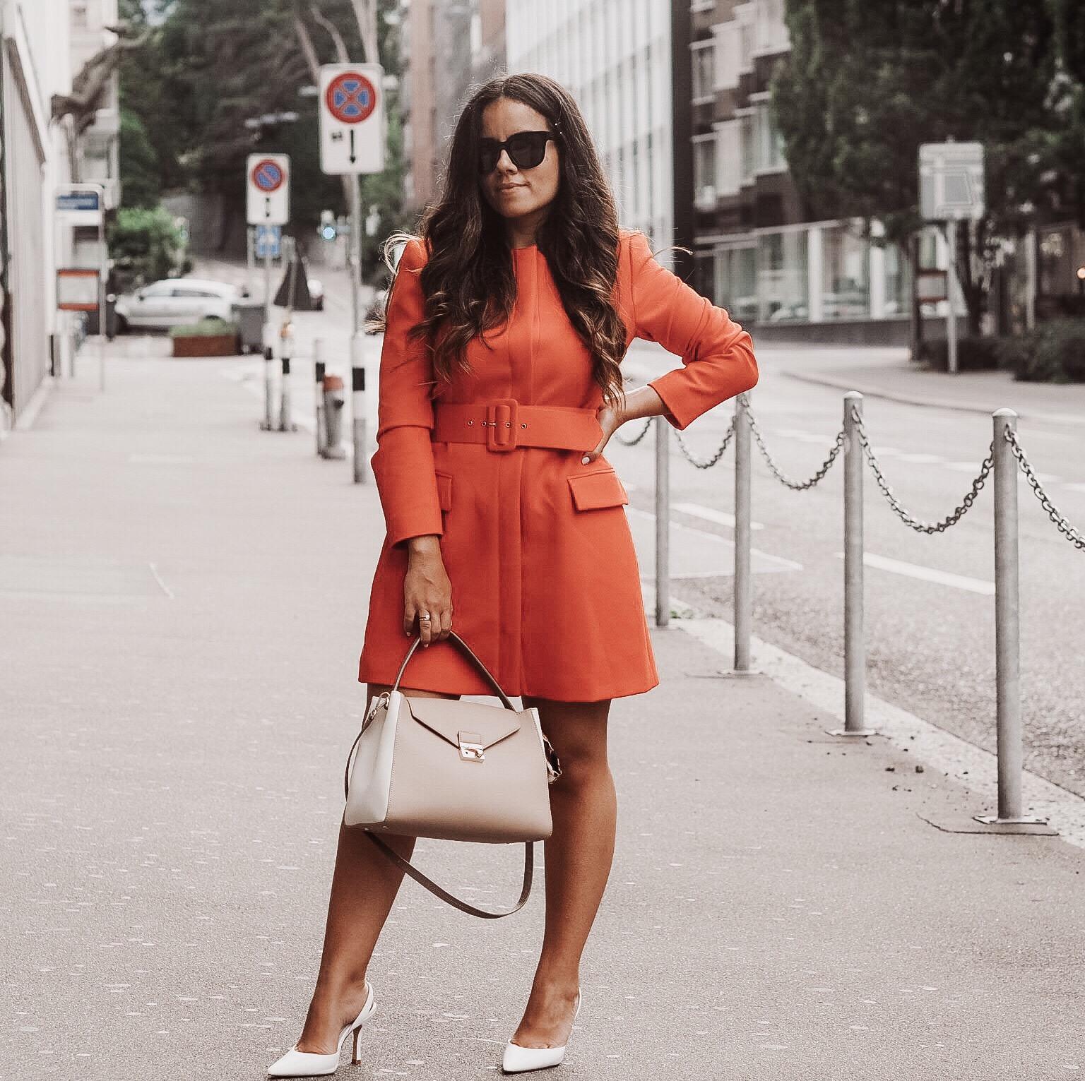 orange dress-white heels-nude bag.JPG