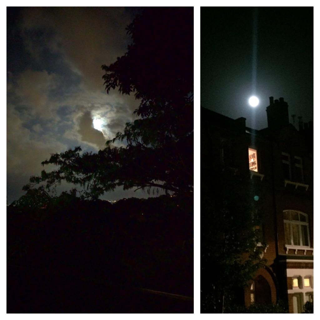Full moon in Venezuela vs. full moon in London, Fulham.
