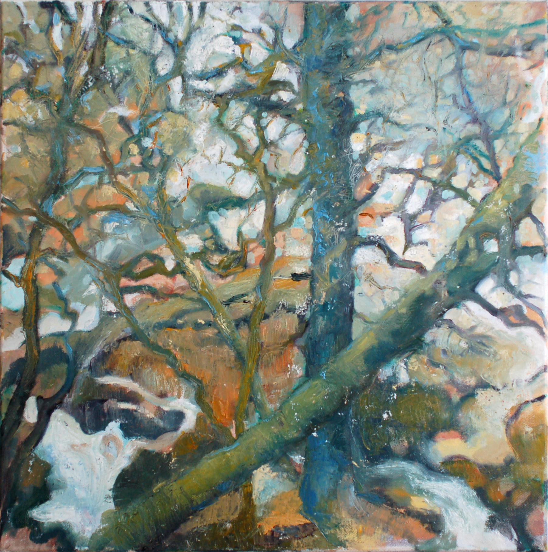 In the woods,oil on canvas, 50x50cms.jpg
