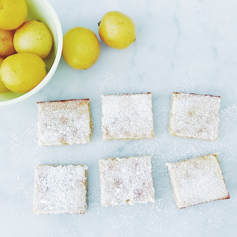 These lemon bars are the perfect balance of tart and sweet. They're also a customer favorite!