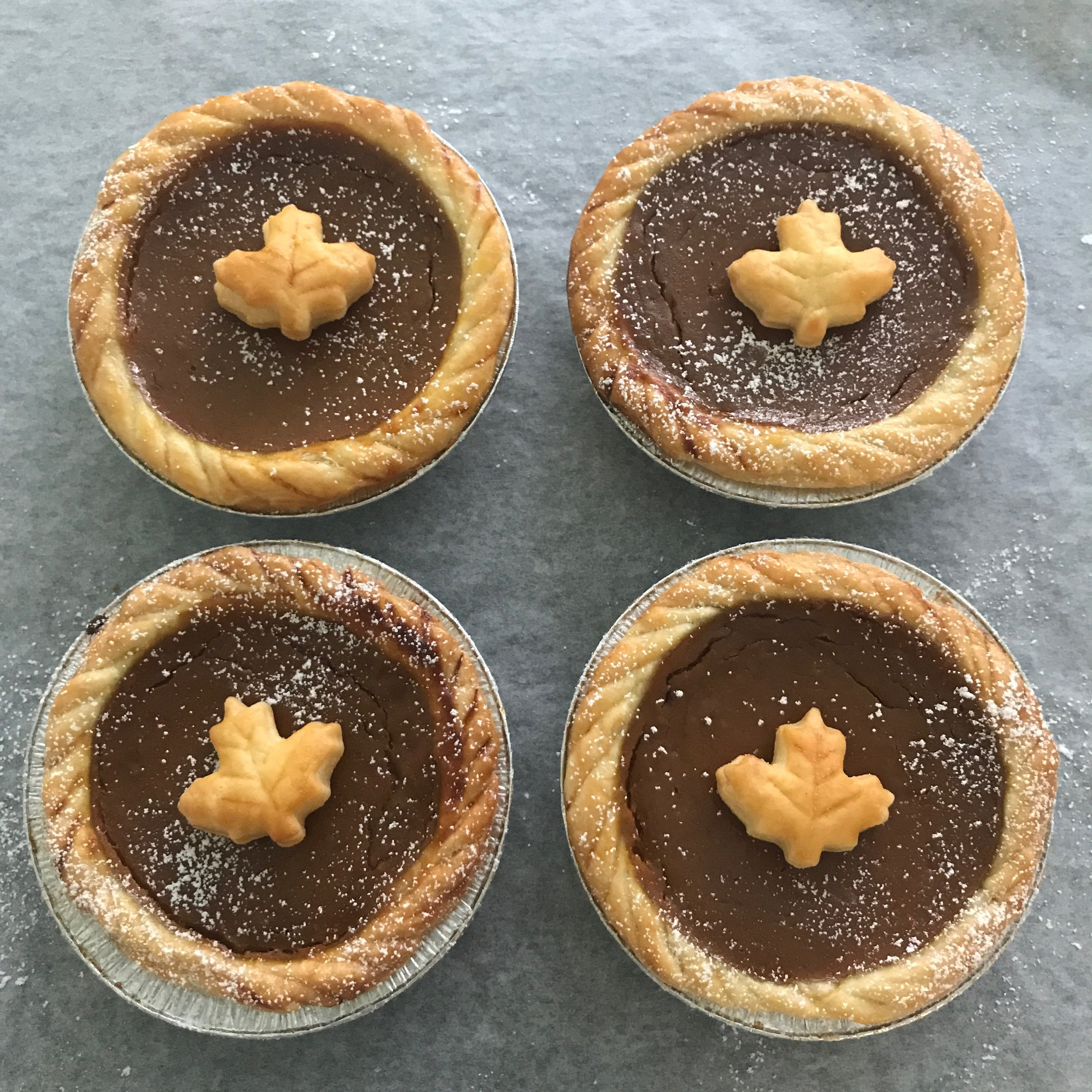 Even pies can be decorated for the season, like these cute little pies perfect for the fall