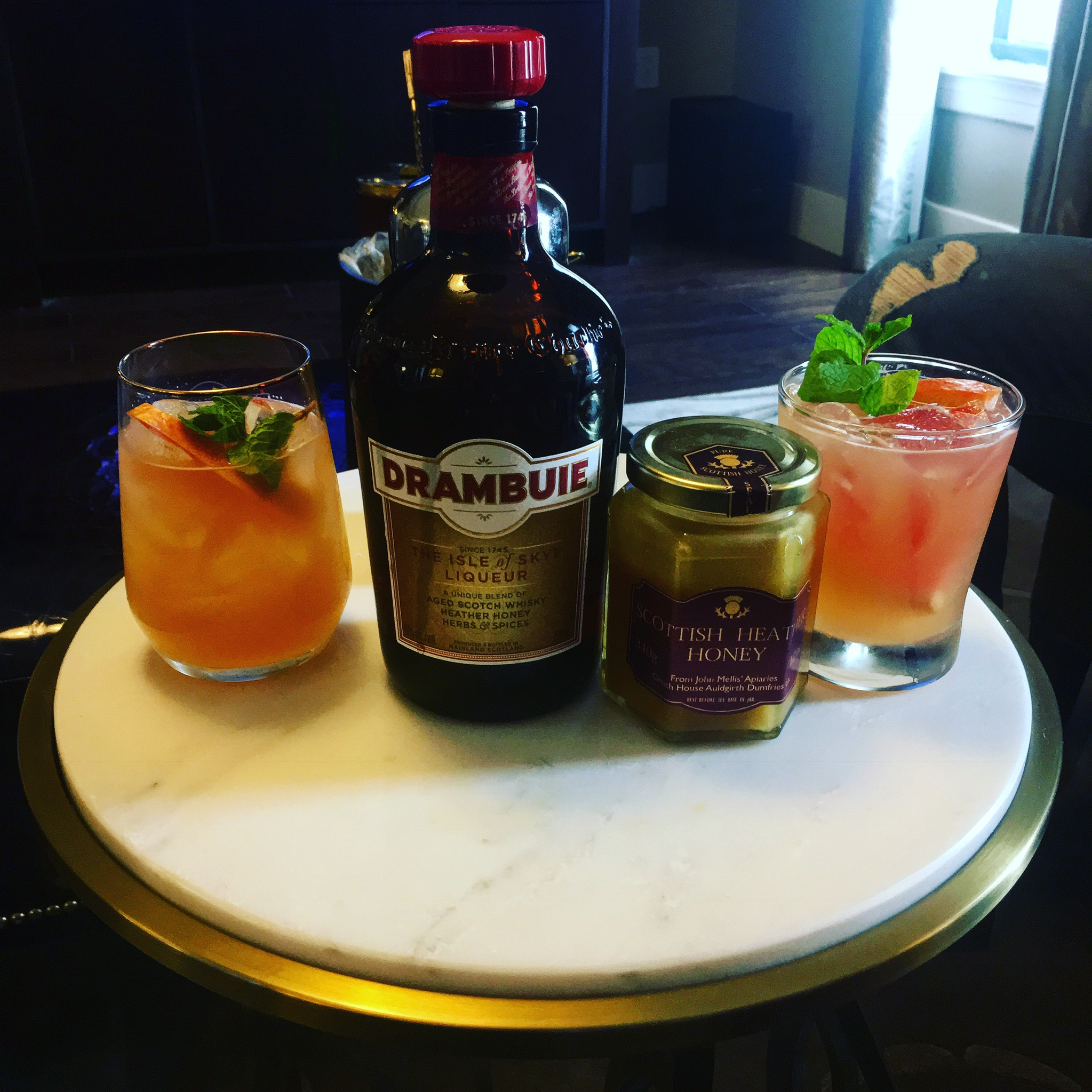 Image: A Backyard Buie made with Drambuie and Real Ale Brewing's White.