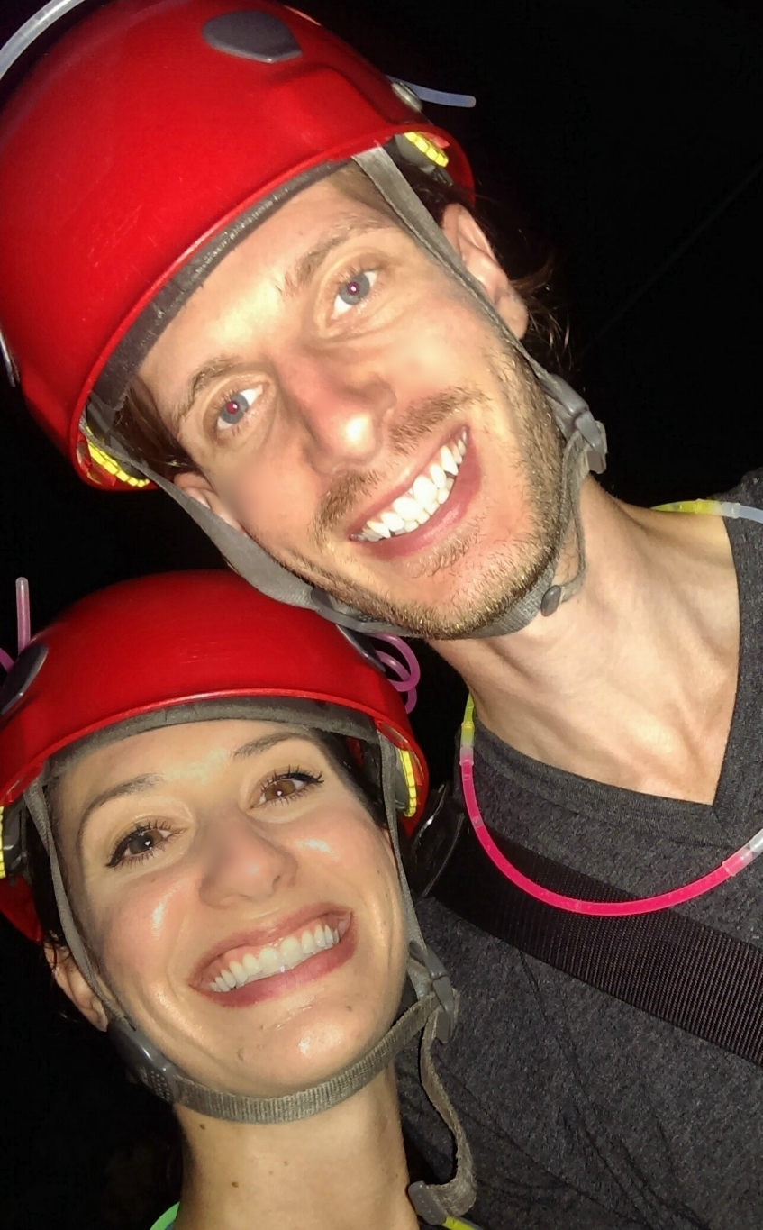 One of our anniversary adventures, moonlight zip-lining!
