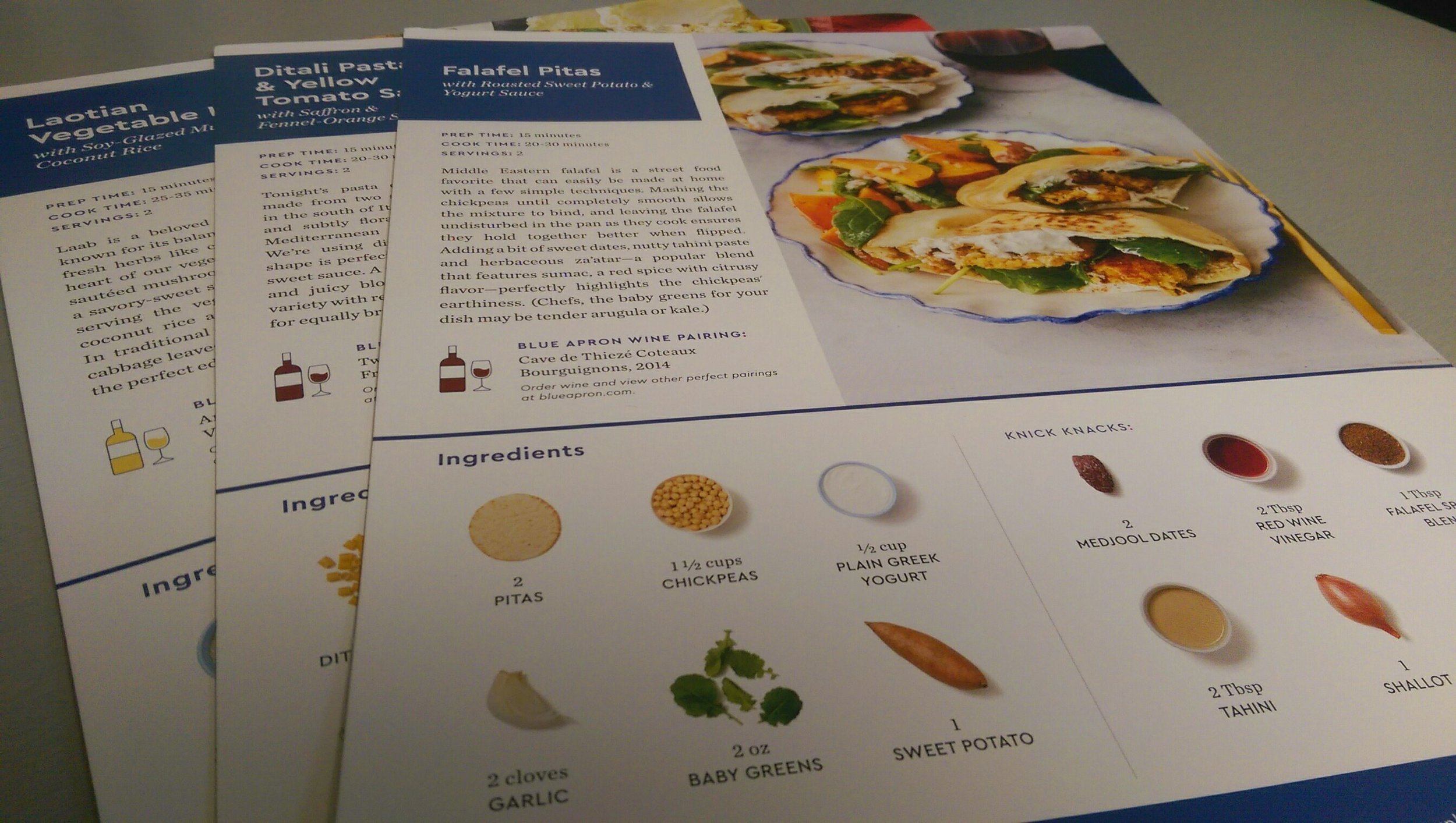 Recipe Cards for Blue Apron