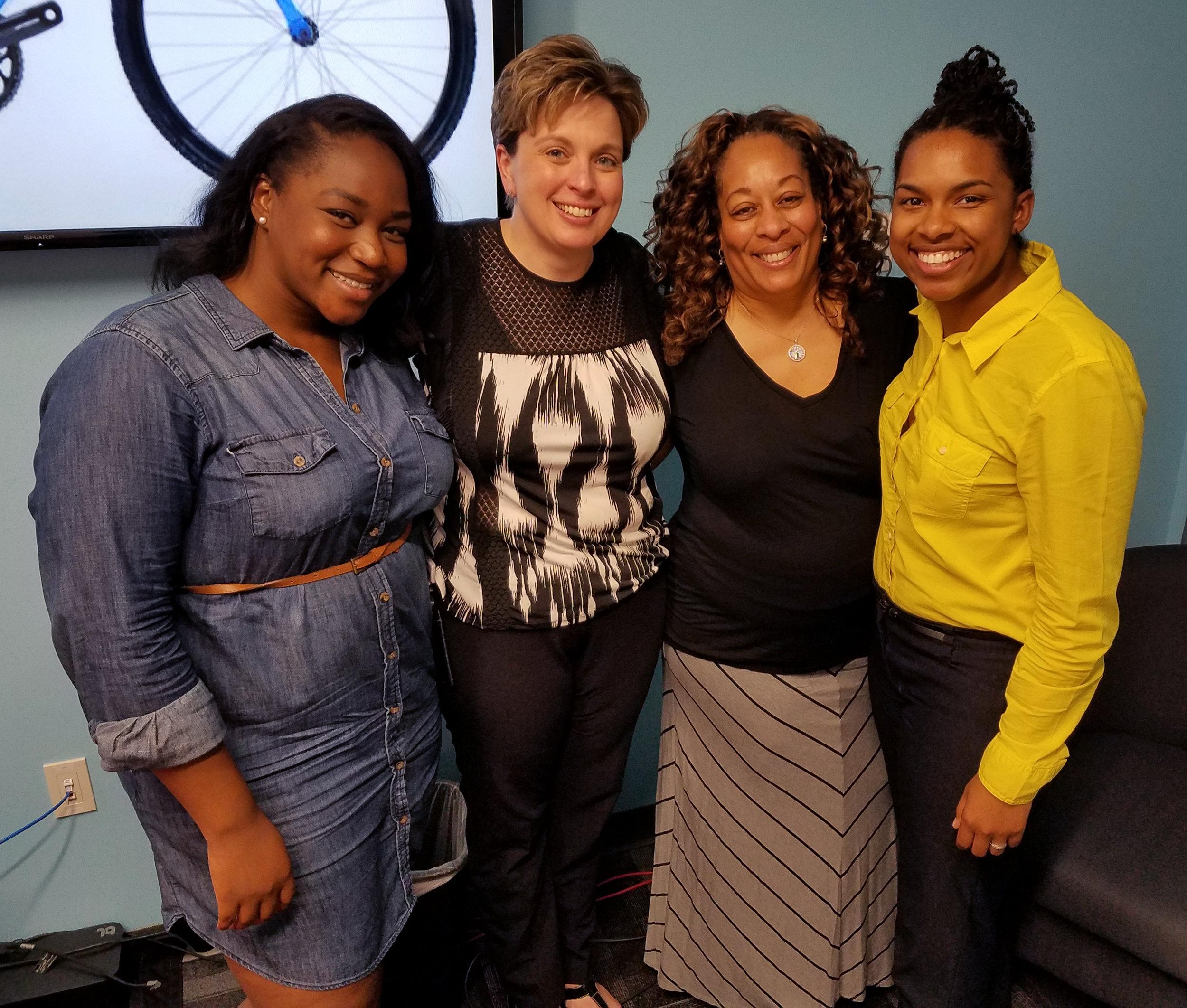 Melanie Igwe, Christy Maxfield, Dr. Cheryl Watkins-Moore, Rachel Simon-Lee