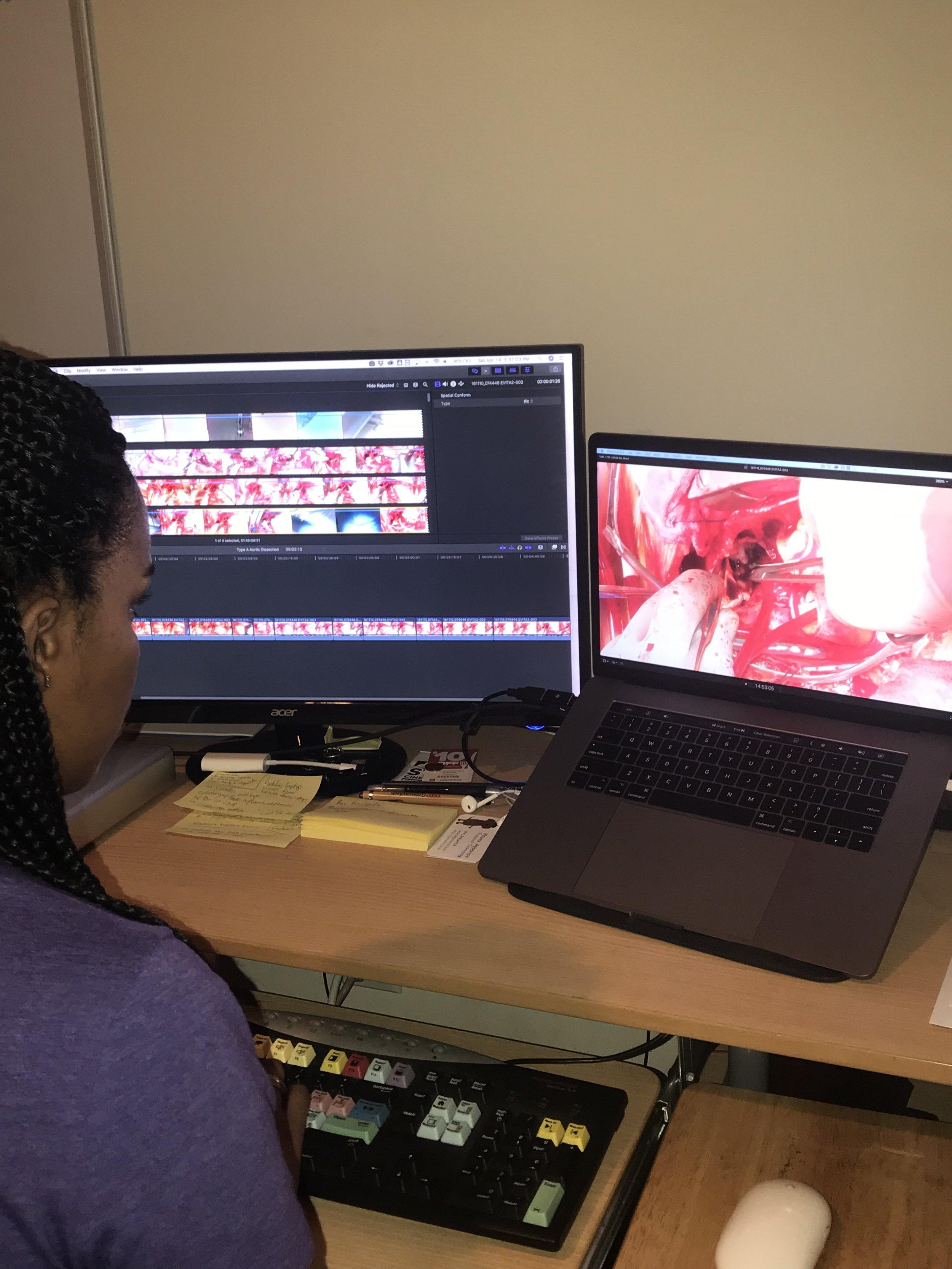 Founder & lead editor, Rachel Lee editing adult cardiac case
