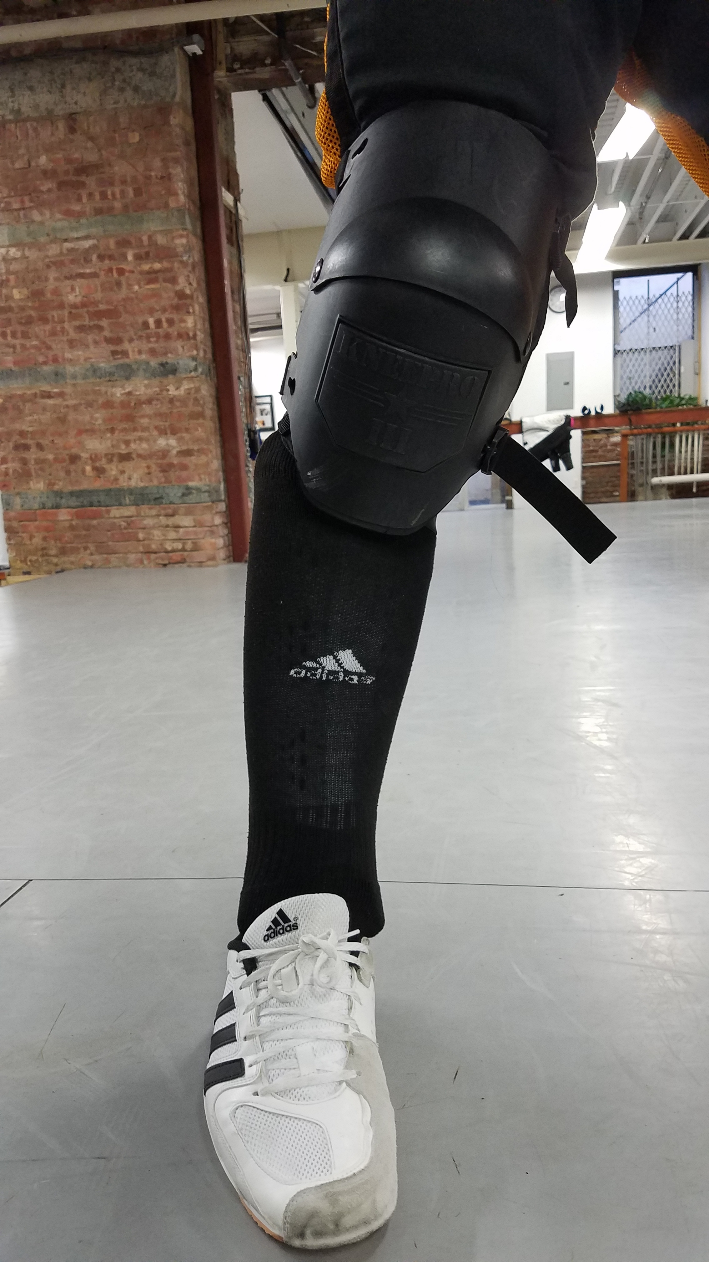 Editor: for a fully wrap-around shin guard with ankle protection, these have a shockingly slim profile under the sock.