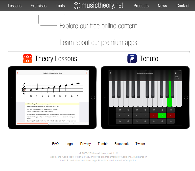 musictheory.net  free Music theory lessons, exercises, and tools
