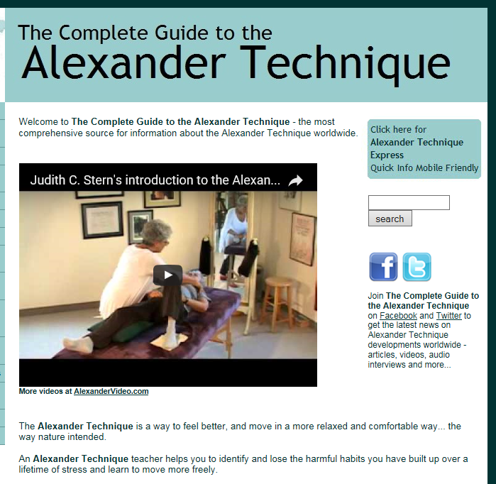alexandertechnique.com  Posture and health for musicians