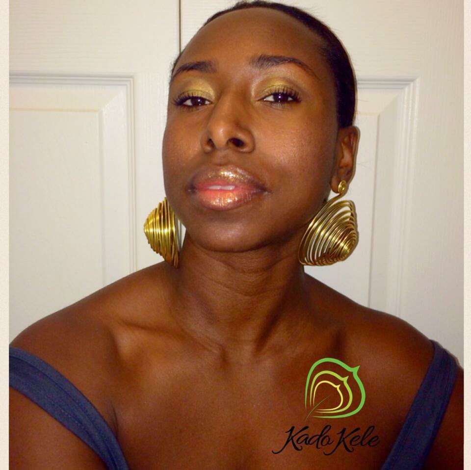 Marie-France is wearing earring from Mòn Collection
