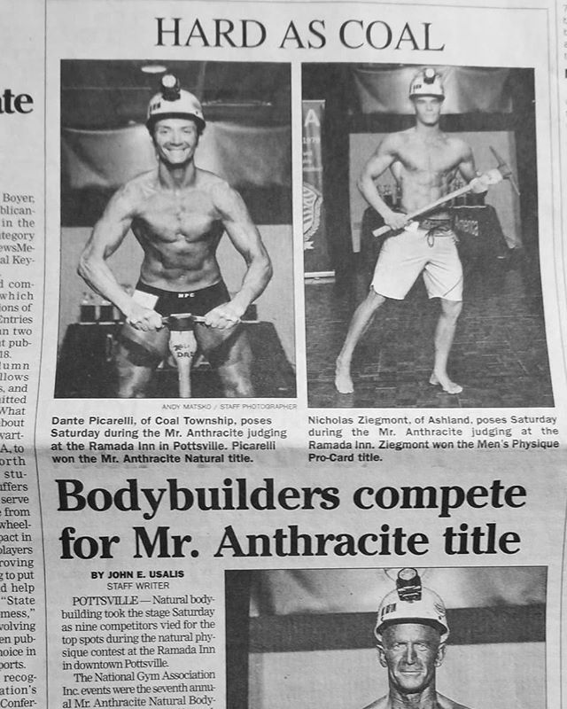 NGA Mr. Anthracite/Coal Natural making the local paper.  A great article in the @republicanherald by John Usalis/ Staff Writer - photos by Andy Matsko/Staff Photographer.  #nga #nganatural #nganaturalphilly #naturalphilly #naturalbodybuilding #worldsgym #figure #physique #classicphysique #philadelphiabodybuilding #mranthracite #mrcoal #worldsgym